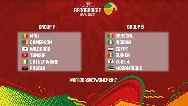 (OFFICIEL) AFROBASKET FEMNIN 2017 : Le Sénégal dans le Groupe B avec l'Egypte et le Nigéria