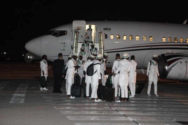 Le Nigéria arrive en Russie avec du style