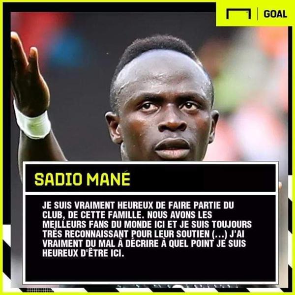 Sadio Mané donne des indices sur son avenir