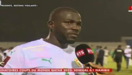 Kalidou Koulibaly : « pas content de la fin du match »