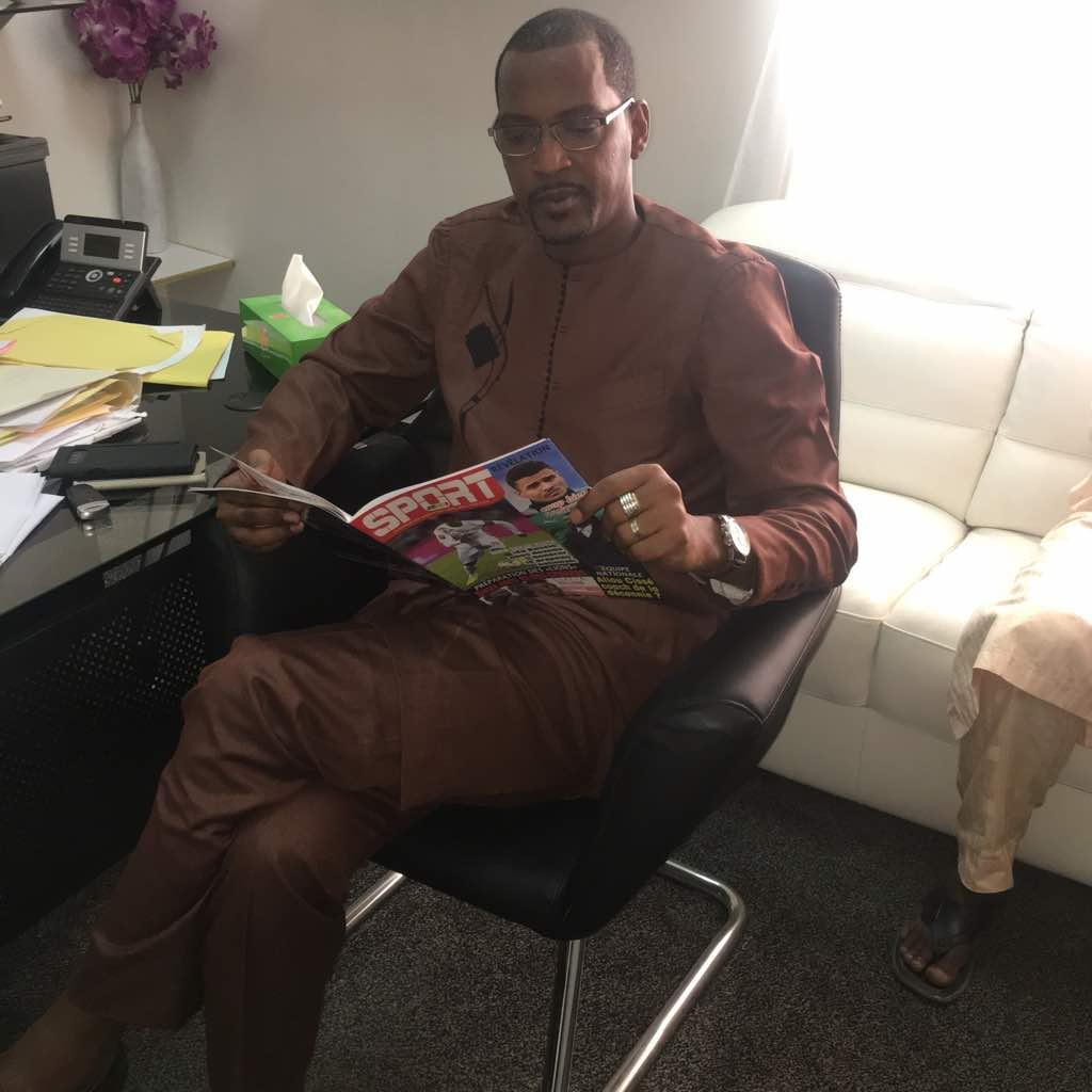 Mame Boye Diao fidèle lecteur de votre magazine SPORT221