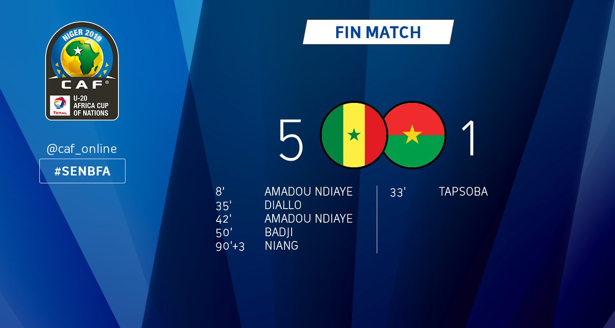 CAN U20 Niger 2019 : voici les 4 demi-finalistes