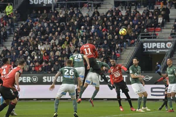 Ligue 1 : victoire de Renne face à Saint-Etienne avec Mbaye Niang buteur