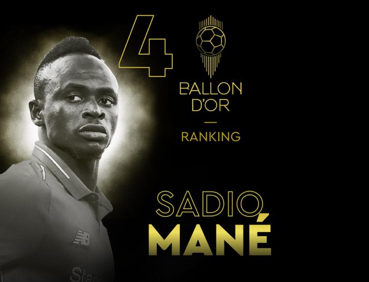 Ballon d'Or 2019 : Sadio Mané quatrième meilleur joueur au monde