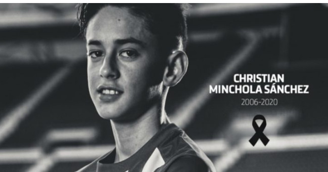 L'Atlético de Madrid pleure ce samedi la mort de son tout jeune joueur Minchola Sanchez