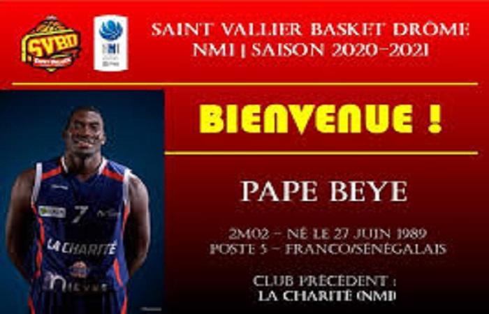 Le Saint Vallier Basket Drôme (NM1) a officialisé l'arrivé du sénégalais Pape Beye.