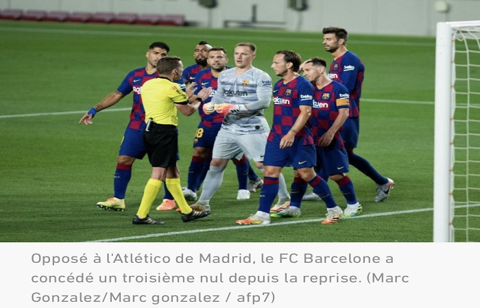 Liga : tenue en échec par Atletico Madrid (2-2), Barcelone laisse filer le Real Madrid