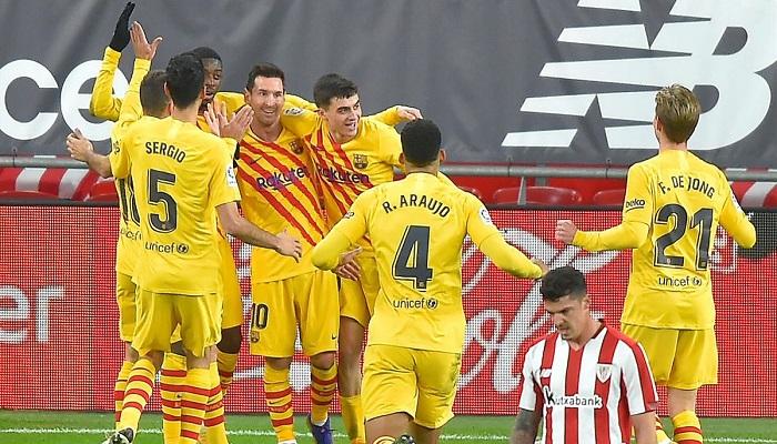 Liga: le Barça enchaîne, doublé de Messi