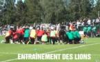Entraînement des lions du Sénégal sous le regard du public venu nombreux