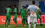 Ligue 1: Après sa victoire à Paris, Marseille battu par Saint-Etienne (2-0)