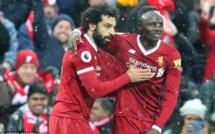 Premier League 31éme journée : Mané fait briller Salah qui a mis un quadruplé