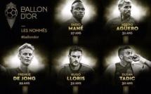 BALLON D'OR FF 2019Sadio Mané, Sergio Agüero, Frenkie de Jong, Hugo Lloris et Dusan Tadic nommés pour le Ballon d'Or France Football 2019